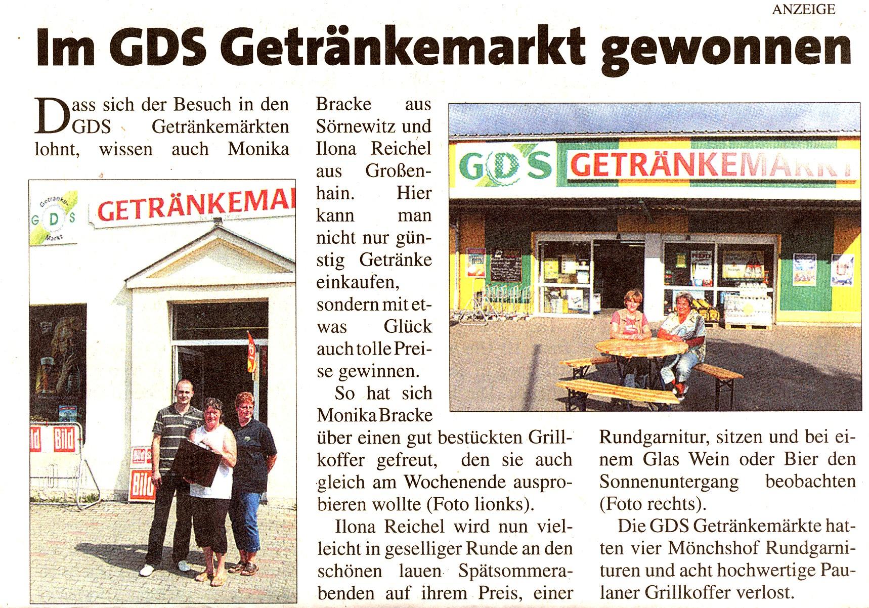 Getränke Dietrich Großenhain Sachsen - Mitteillungen